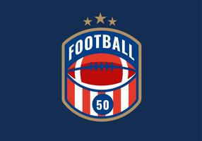American Football Emblem Red Stripe Vector