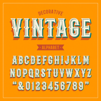 Decorative Vintage Vector Alphabet
