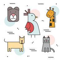 Animais geométricos de forma simples