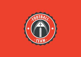 American Footbal Emblem Ball Vector