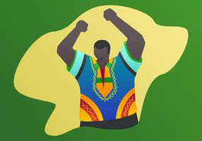 Outstanding Man In Dashiki Vectors