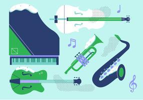 Instrumento plano de vetor de instrumento musical