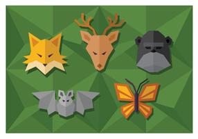 Forma geométrica simple animales