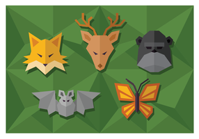 Geometriska enkla formade djur