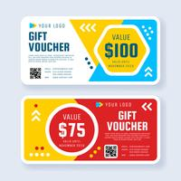 Modern Gift Voucher Template Vector