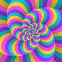 3D Swirl Circular Movement Illusion Background