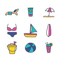 Beach Activities Icons