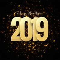 Beautiful Happy New Year 2019 text design vector