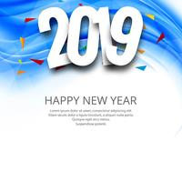 Happy new year 2019 card celebration background