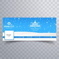 merry christmas ball with facebook banner template download free