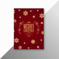 Hermosa fiesta marry navidad folleto plantilla festival desig