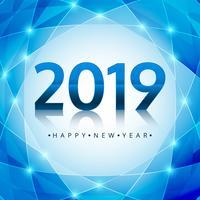 Beau fond de festival de texte bonne année 2019