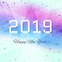 Vacker lyckligt nytt år 2019 text festival bakgrund