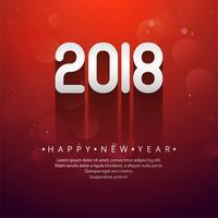Text-Hintergrundvektor des guten Rutsch ins Neue Jahr 2019