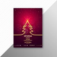Heiraten Sie Weihnachtsbaumbroschüren-Schablonendesign