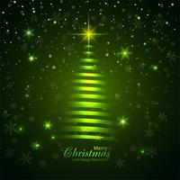 Merry christmas tree with glitters background