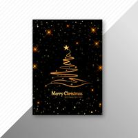 Merry Christmas party flyer template background vector