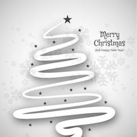Merry christmas minimal line tree background