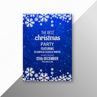 Marry christmas party flyer template design