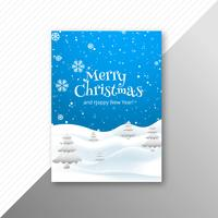 Beautiful festival merry christmas template brochure design