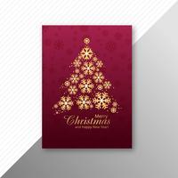 Feliz Natal festa flyer modelo fundo vector