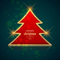 Beautiful festival merry christmas tree card background