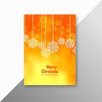 Diseño elegante del folleto de la plantilla de la Feliz Navidad de la celebración