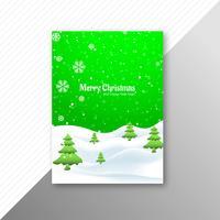 Joyeux Noël parti flyer modèle vecteur de fond