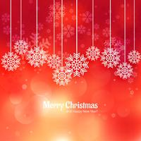 Snowflake merry christmas card celebration background