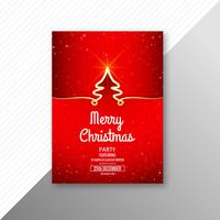 Merry christmas celebration kaart brochure sjabloon achtergrond