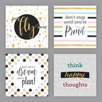Cartes vectorielles d'encouragement