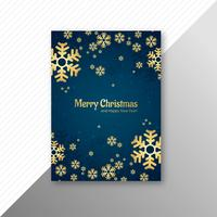 Merry christmas card template brochure design