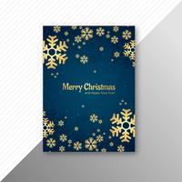Kartenschablonen-Broschürendesign der frohen Weihnachten