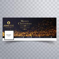 Merry christmas glitters with facebook banner design
