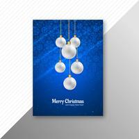 Diseño hermoso del folleto de la plantilla de la Feliz Navidad del festival
