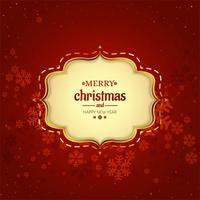 Beautiful decorative card merry christmas background