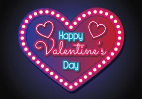 Neon Valentine Background