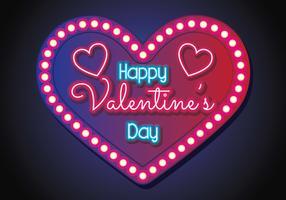 Fondo de neón de San Valentín