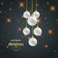 Beautiful merry christmas ball decorative background