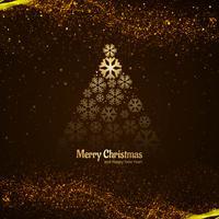 Fundo de celebração moderna árvore de Natal feliz