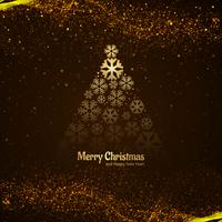 Modern merry christmas tree celebration background