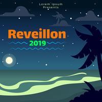 Reveillon Poster sjabloon
