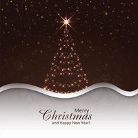 Merry christmas tree celebration background vector