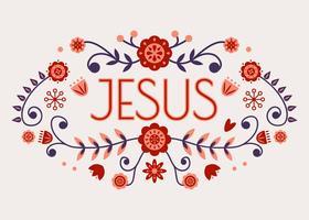 Jezus typografie vector