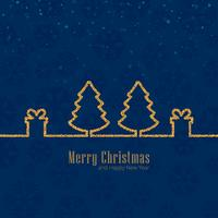 Merry christmas celebration background vector