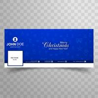 Merry christmas card with facebook banner template background