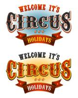 Circus Holidays Välkommen Banners