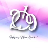 2019 Happy New Year celebration background