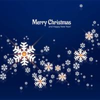 Snowflake decorative merry christmas background vector