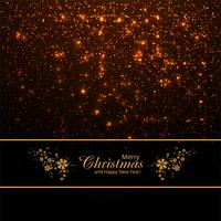Merry christmas shiny glitters background vector